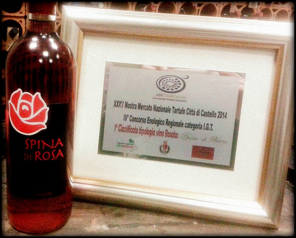 "Recognition for ours ""Spina di Rosa"""